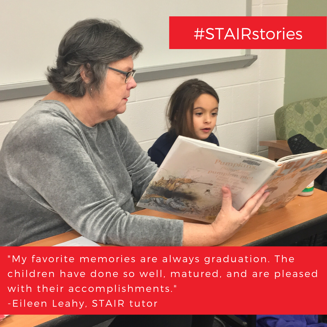 _The best part is creating a relationship with my second grader and watching him improve his reading skills._ -Ajia Holt, STAIR tutor (1)